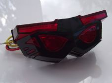 LED transformer rear light red lens black case stop and tail light